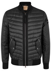 True Religion Black Quilted Shell Bomber Jacket