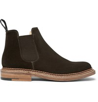 Grenson Christopher Triple Welted Suede Chelsea Boots Brown