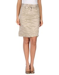 Fairly Skirts Knee Length Skirts Women Sand