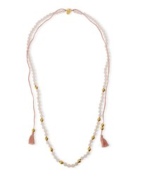 Beaded Tassel String Necklace Amazonite Chan Luu