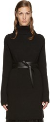 Valentino Black Belted Turtleneck