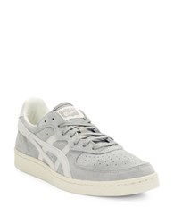 Asics Suede Lace Up Unisex Sneakers Light Grey