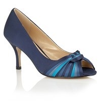 Lotus Hallmark Martyna Peep Toe Courts Blue