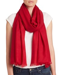 Lord And Taylor Oversize Wool Cashmere Wrap Scarf Red