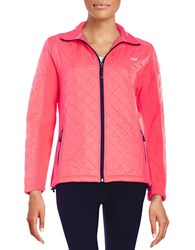 New Balance Quilted Jacket Pink Zing