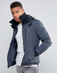 Firetrap Hooded Funnel Neck Jacket Navy