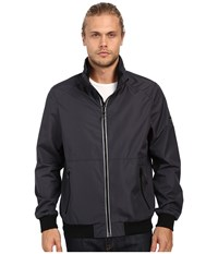 Calvin Klein Laminated Rip Stop Bomber Blue Metal Men's Coat