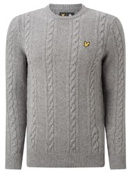 Lyle And Scott Lambswool Crew Neck Jumper Mid Grey Marl