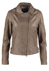 Oakwood Leather Jacket Yemen Light Grey