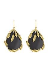 Aurelie Bidermann 18Kt Yellow Gold Plated Earrings With Onyx