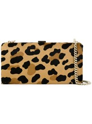 Dsquared2 Leopard Print Clutch Brown