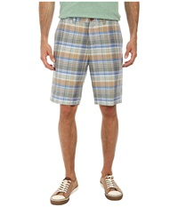 Tommy Bahama Plaid Dei Marmi 10 Linen Shorts Starlight Blue Men's Shorts