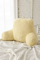 Plum And Bow Chunky Knit Boo Pillow Cream