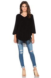 Velvet By Graham And Spencer Trinity Cashmere Classic Poncho Black