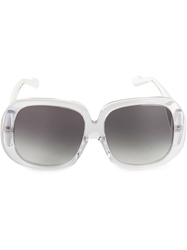 Courreges Rectangular Sunglasses White