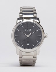 Hugo Boss Classic Stainless Steel Watch With Black Dial 1513398 Silver