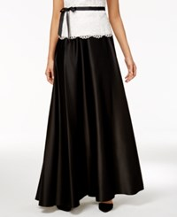 Alex Evenings Petite Pleated A Line Skirt Black