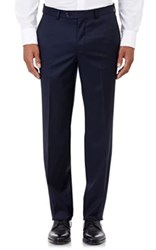 Barneys New York Men's Twill Trousers Navy