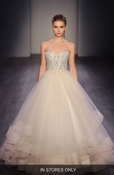 Women's Lazaro Embellished Strapless Organza And Tulle Ballgown In Stores Only