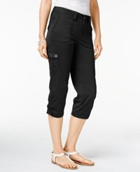Styleandco. Style Co. Petite Embellished Capri Cargo Pants Only At Macy's Deep Black