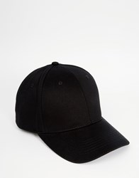 Asos Baseball Cap In Black