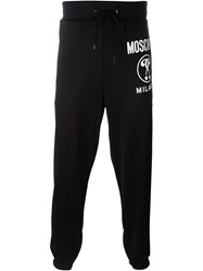Moschino Double Question Mark Print Track Pant Black