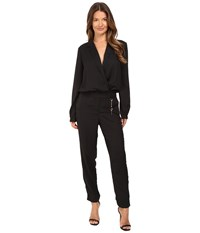 Versace Long Sleeve Side Chain Jumpsuit Nero Women's Jumpsuit And Rompers One Piece Black