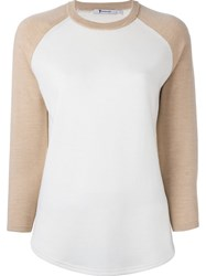 T By Alexander Wang Baseball Jumper Nude And Neutrals