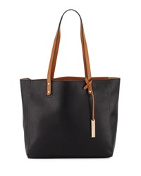 Neiman Marcus Textured Leather Organizer Tote Bag Black Came