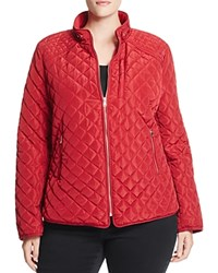 Bagatelle Plus Quilted Jacket Deep Red