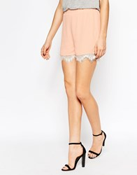 Y.A.S Sigma Lace Shorts Pink