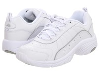 Easy Spirit Punter White Light Grey Leather Women's Walking Shoes