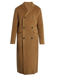 Acne Studios Carl Double Faced Wool And Cashmere Blend Coat Camel