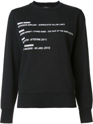 Yang Li Graphic Print Sweatshirt Black