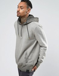 Criminal Damage Washed Hoodie Grey