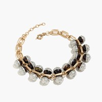 J.Crew Tortoise And Pave Crystal Necklace