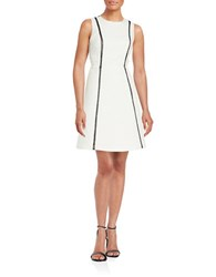 Rachel Roy Diamond Textured A Line Dress White