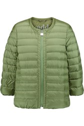 Add Quilted Shell Down Jacket Green