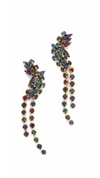 Erickson Beamon Hyperdrive Cascading Earrings Jewel Multi