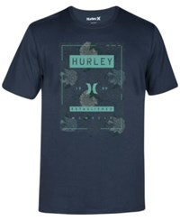 Hurley Men's Shacked Premium Graphic Print Logo T Shirt Seaweed