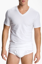Nordstrom Trim Fit V Neck T Shirt 4 Pack White