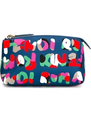 Fendi Fendi Roma Print Make Up Bag Blue