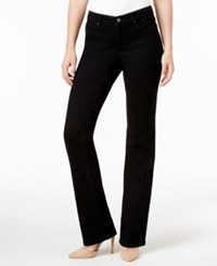 Charter Club Petite Prescott Tummy Control Bootcut Jeans Only At Macy's Saturated Black