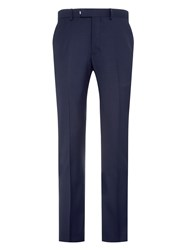 Burton Plain Tailored Fit Suit Trousers Blue