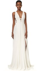 Jay Ahr Gown Off White