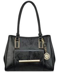 Anne Klein Shimmer Down Large Satchel Black