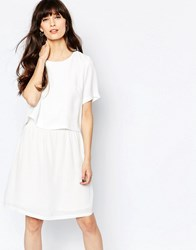 Selected Drop Waist Dress With Cut Out Snow White