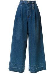 Muveil High Waisted Wide Leg Jeans Blue