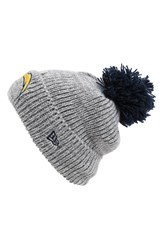 Men's New Era Cap 'Cuff Star San Diego Chargers' Pompom Knit Beanie Grey