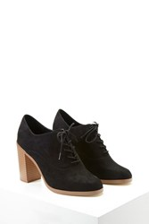 Forever 21 Platform Faux Suede Oxfords Black